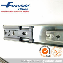 Self closing drawer slider for soft close cabinet drawers