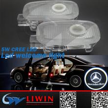 2015 top quality 12v 3w 5w logo design car for Mercedes auto led car logo shadow light