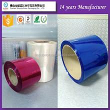 Pvc transparente film plastic wrap blanco película transparente