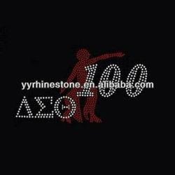 Delta Sigma Theta 100 hotfix strass rhinestone motifs