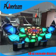 Disco 3d led screen dj booth/console with new design