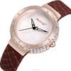 SKONE 9344 cheap Lady Watch / Genuine Leather Bracelet Shining Stones watch