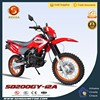 Export High Quality Chinese Pit Bike Red 200cc Dirt Bike for Sale SD200GY-12A
