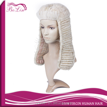 Bolin special 100 Horse Hair Curly White Barrister Mens Adult Judge Wigs