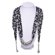2015 fashion jeweled women scarves with pendant charms