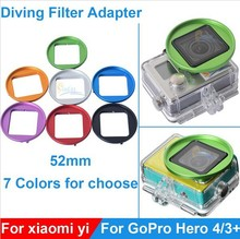 Aluminium Alloy Xiaomi Yi GoPro4 3+ Filter Adapter Ring Full HD 1080P Sport Camera