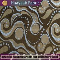 nylon beige embossed flocking velvet fabric modern printed curtains