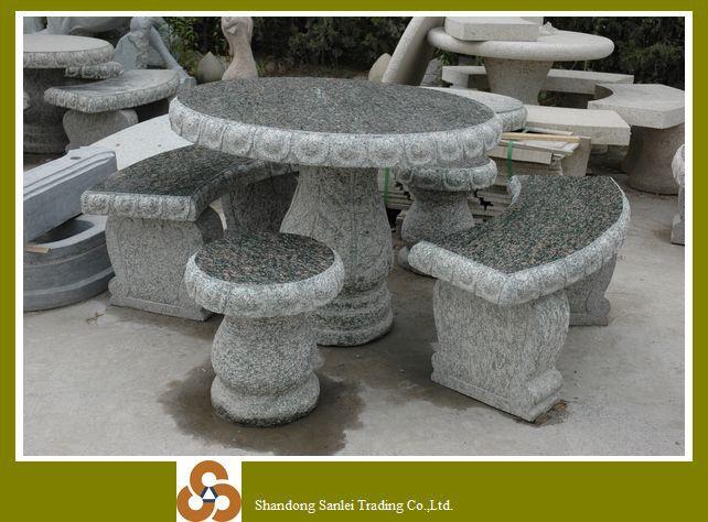 Decoración de piedra del jardín japonés mesas sillas precio ...