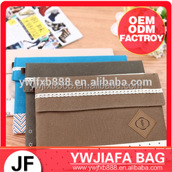 simple style multifuction canvas storage bag For Ipad
