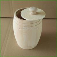 Handicraft Small Mini Wooden Honey Barrels Storage Containers