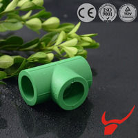 Branding Material Small Fluid Resistance Factory quotation equal tee of ppr pipe fittings for exporting