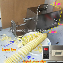Electric potato spiral cutting machine/potato cutter machine spiral/spring potato cutter