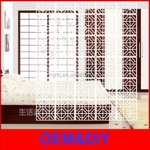 Dongyang alibaba supply plastic small decorative folding screen pvc room dividers
