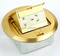 China manufactures floor socket double socket&double 3pin electrical floor boxes