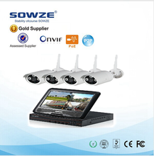 "New 960P 4CH Wifi NVR Kit 7"" Monitor Security Camera-3 System IP Wireless CCTV Camera Systerm"