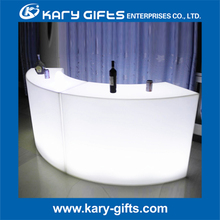 Remote Control Rechargeable Event LED Curved Bar Furniture