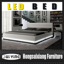 A507 Modern Contemporary Queen Size Platform Bed with Light