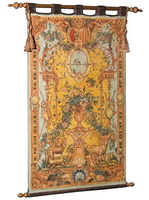 A Large Antique Wall Tapestry Design, Luxury Full Length Golden Wall Hanging Decor BF11-08171b