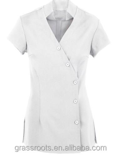 Fashion design 100 cotton beauty salon and spa uniform for Spa uniform cotton
