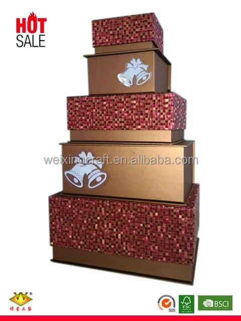 Custom wholesale decorative christmas gift box buy