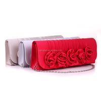 New style Rose flower handbag clutch Evening women bag