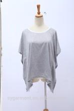 venta al por mayor de china blusa de la mujer de grasa diseños damas de manga corta de nuevo blusa de gasa