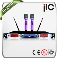 ITC T-529UB PLL Long Distance 2 Channel Noise Ressistant Wireless Microphone Karaoke