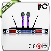 ITC T-529UB PLL Long Distance 2 Channel Noise Ressistant Wireless Microphone Karaoke