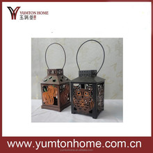 2015 household decorated halloween black gift metal bucket candle