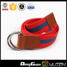 OEM Fashion Black Striped Thicken Canvas Belt For Men