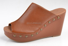 High quality mule wedge sandals for ladies