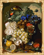 GX7339 paint your own canvas still life oil painting by numbers for wall decor