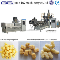 Soft melt corn grits puff snack processing machinery from Jinan DG company