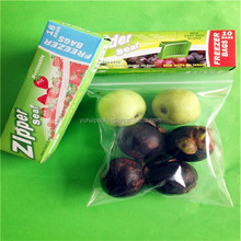 Plastic zipper vegetable bags and fruit bag with color box/reusable food pouch