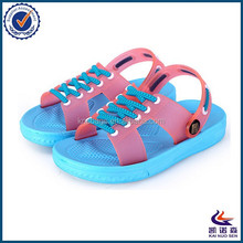 Beach lace up design fancy sandals for girls