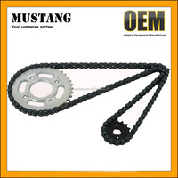 420 motorcycle chain sprockets price for moto, Good 420 motorcycle transmission, 40Mn chain from professional chain manufacture