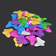 Laser multi-color large butterfly sequins