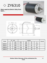 120W12V DC motor with 3200rpm 0,8A Eletric Bycycle Electricl Toy ZY6310