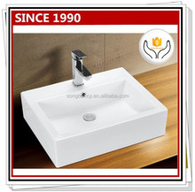 3009 Sanitary ware ceramic Square design counter basin bathroom