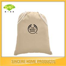 promotional customizable drawstring bag cotton