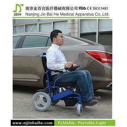 Free style electric folding wheelchair scooter