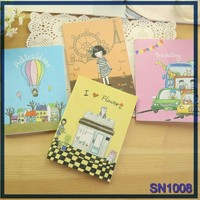 Cartoon inbetweening pictures of stationery items journal notebook imported from china