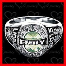 custom made 316l stainless steel class ring