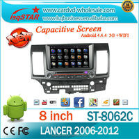"""Android 4.4 8"""" Mitsubishi Lancer Car Dvd Player with HD1024*600 Quad core"""