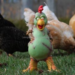 Customized Zombie Chicken Statue/Figurine For Halloween Festival/Chicken Garden Decoration Statue