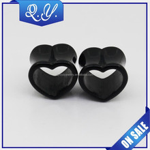 wholesale new design heart shape body piercing jewelry acrylic ear tunnel