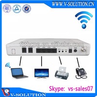 GEPON 4 rj45 ports 2 FXS ftth catv transmitter wifi video composite