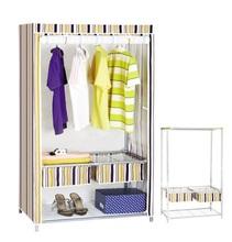 gran espacio de almacenamiento portátil de ropa organizador armario muebles montar estable de color rojo