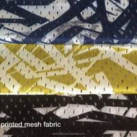 100% Polyester Camouflage Printed Mesh Fabric