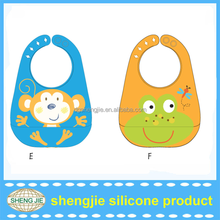Custom fancy and waterproof silicone baby bibs or other Baby products from shengjie manufacturer